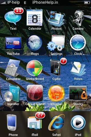 iPhone Windows 7 Theme