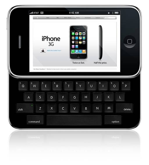 50% iPhone users want a physical keyboard/qwerty