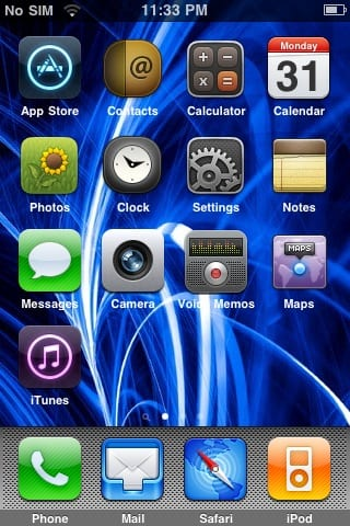 The Appley theme looks cool on the iPhone/ iPod touch. The lock screen is
