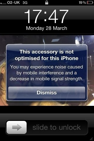 This accessory is not optimized for this iPhone