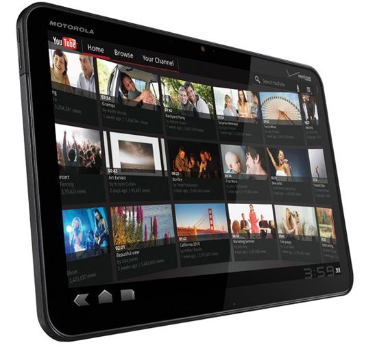 Motorola Xoom Tablet, runs Honeycomb android