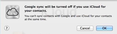 iCloud Google Sync