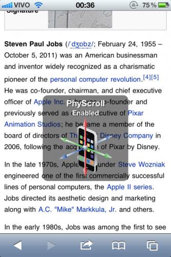 PhyScroll