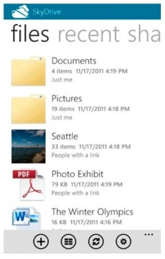 Skydrive by Microsoft on iphone