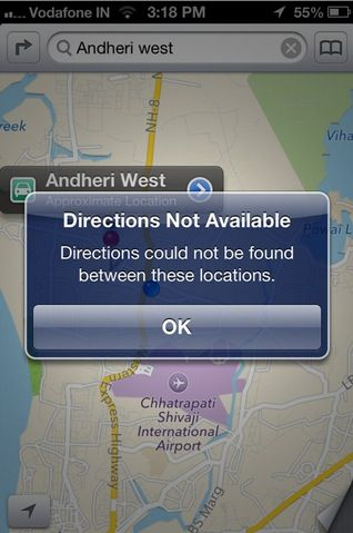 Maps On iOS 6 for India